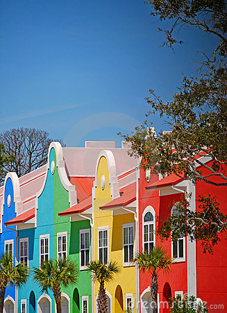 Colorful Coastal Townhomes