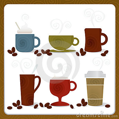 Free Colorful Coffee Cups Stock Image - 7637091