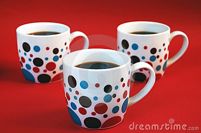 colorful mugs with coffee stock vector image 39009176 - Colorful Mugs