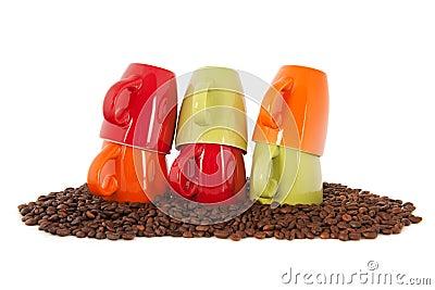 colorful coffee mugs on white stock photo image 41410145 - Colorful Mugs