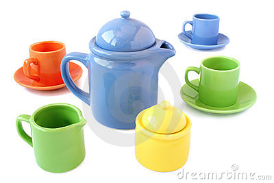 Colorful coffee/tea cups set