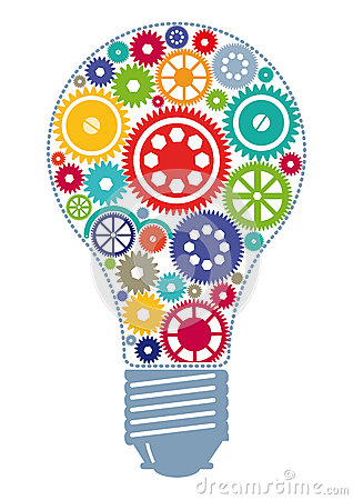 Colorful Cogs In Light Bulb Royalty Free Stock Image ...