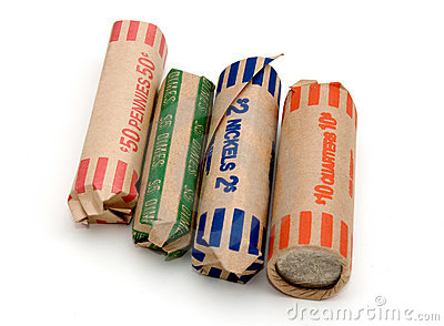 Colorful Coin Rolls