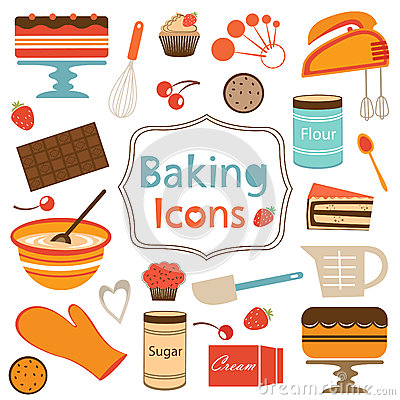 Free Colorful Collection Of Baking Items Royalty Free Stock Photography - 31940837