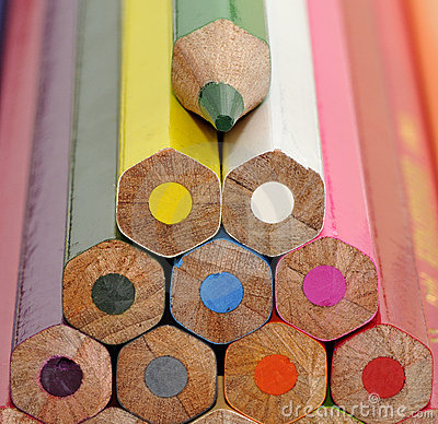 Colorful color crayons