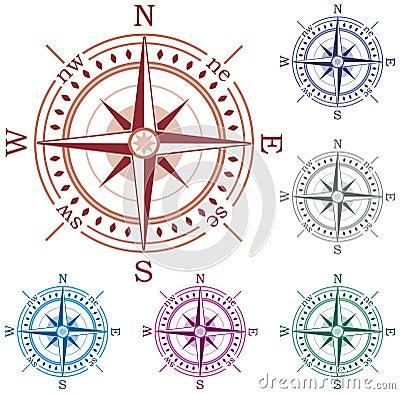 Colorful compasses