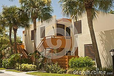 Colorful condominiums in the tropics