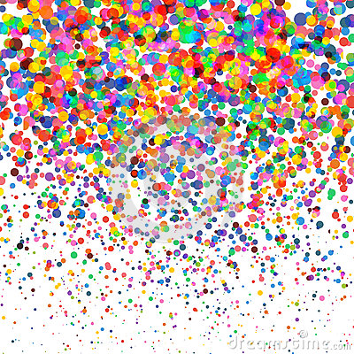 Colorful Confetti isolated on Transparent square Background. Christmas, Birthday, Anniversary Party Concept. Confetti Vector Illustration