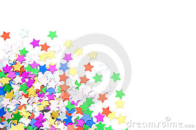 Colorful confettis