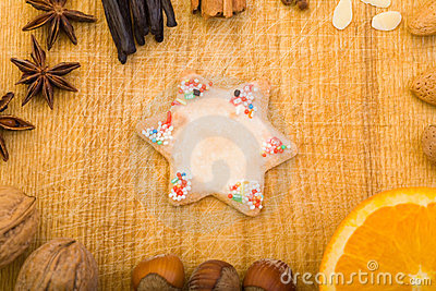Colorful cookie with star shape
