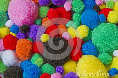 Colorful cotton balls