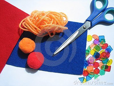 Colorful craft items