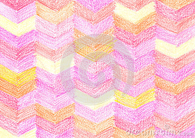 Colorful crayon drawing pattern