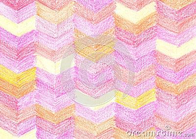 Colorful crayon drawing pattern