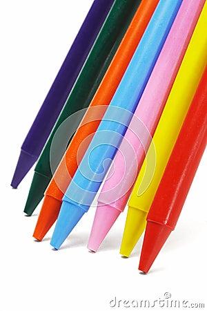 Colorful crayon pencils