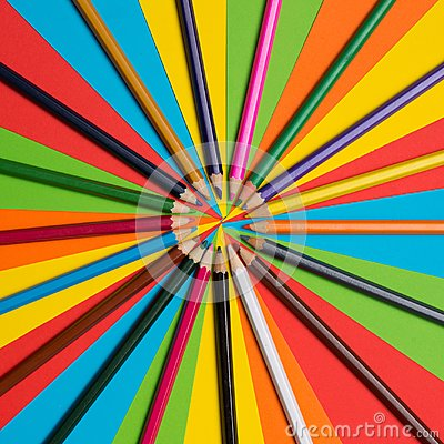 Free Colorful Crayons. Many Different Colored Pencils. Royalty Free Stock Images - 105377489