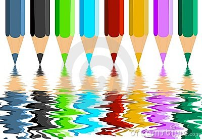 Colorful Crayons Reflection