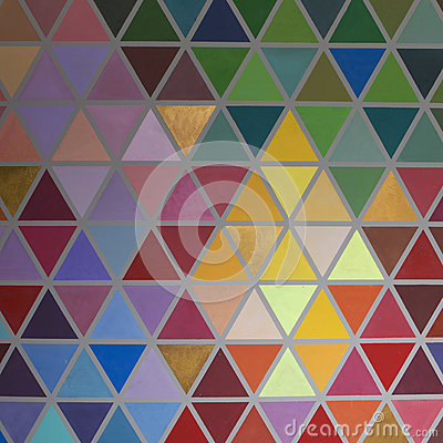 Free Colorful Creative Geometrical Abstract Shaped Interior Wall Pain Royalty Free Stock Images - 92662489