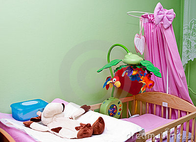 Colorful crib
