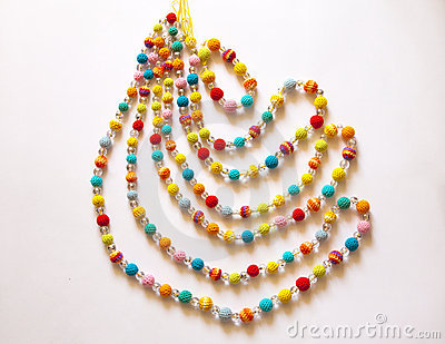 Colorful crocheted necklace