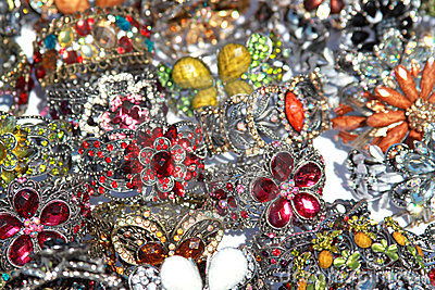 Colorful crystal jewelry Stock Photo