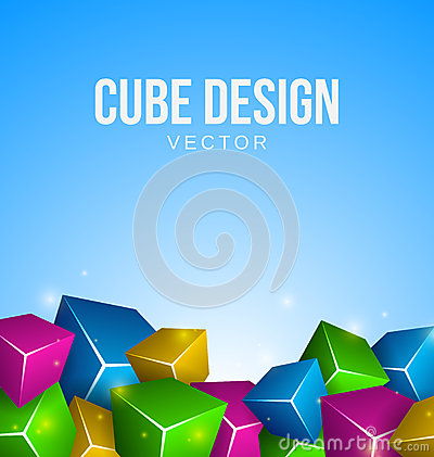 Colorful Cubes Background