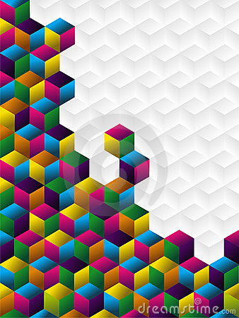 Colorful cubes panel.