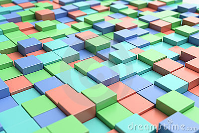 Colorful cubic background