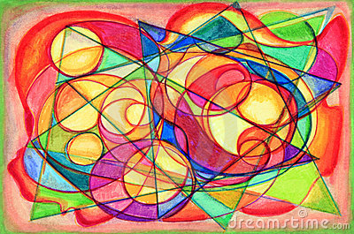 Colorful Cubist Abstract Painting
