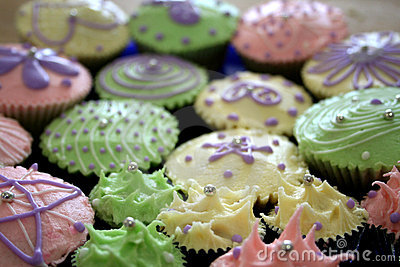 Colorful Cupcake Array