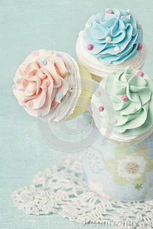 Colorful cupcake pops