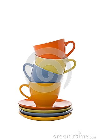 Colorful cups pyramidd
