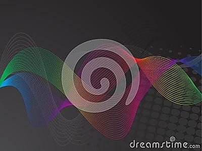 Colorful curve lines