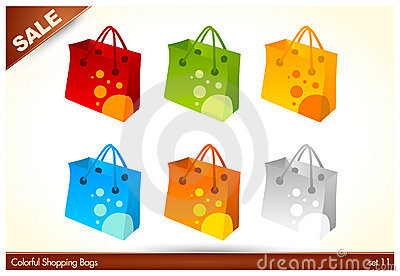 Colorful Custom Shopping Bags