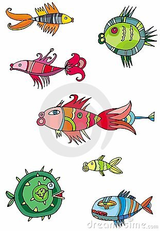 Colorful cute fishes