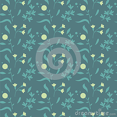 Free Colorful Cute Floral Set With Leaves And Flowers Seamless Pattern Royalty Free Stock Photo - 68921495