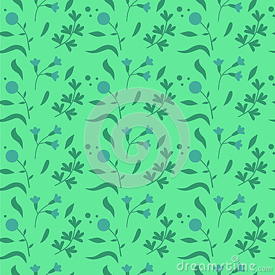 Free Colorful Cute Floral Set With Leaves And Flowers Seamless Pattern Stock Image - 69000591