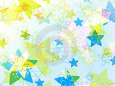 Colorful cute stars