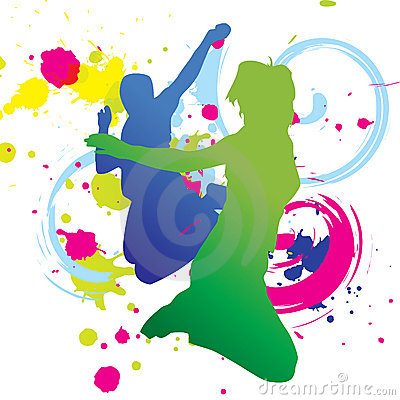 Colorful Dance Graphic (vector)