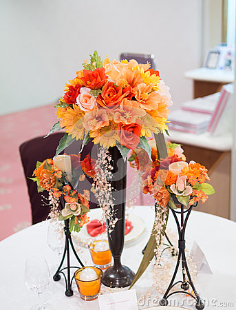 Colorful decorate flower