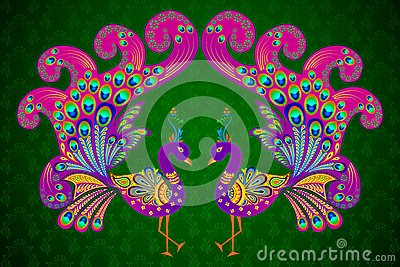 Colorful Decorated Peacock