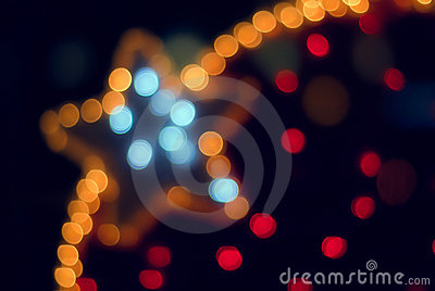 Colorful decoration lights and Star