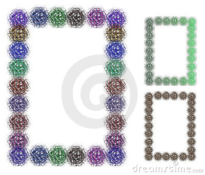 Colorful decorative frames