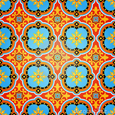 Free Colorful Decorative Seamless Pattern Stock Photos - 18921403