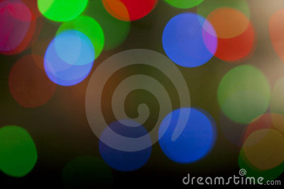 Colorful defocused Christmas Lights