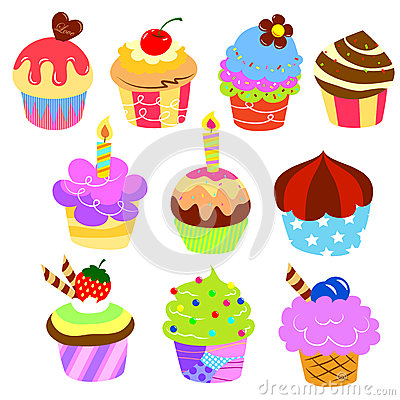 Colorful delicious cakes