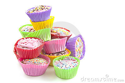 Colorful delicious cup cakes