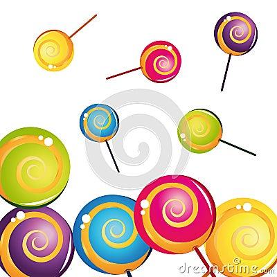 Colorful delicious lollipop collection