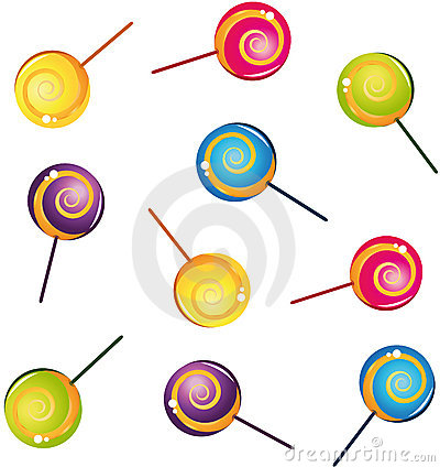 Colorful delicious lollipop collection