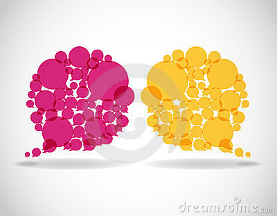 Colorful dialog speech bubbles